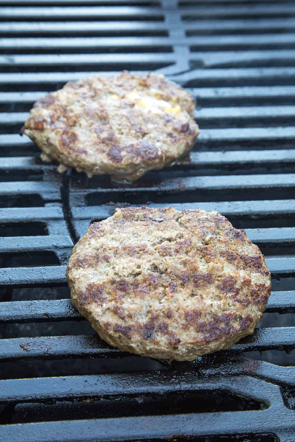 Grilling up the burgers