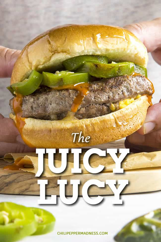 Juicy Lucy: The Gooey Stuffed Cheeseburger - This Juicy Lucy recipe is the ultimate cheeseburger, with gooey-melty cheese stuffed inside the burger. It's a classic recipe, invented in Minnesota. Here is how to make it your way! #CheeseBurger #Grilling #StuffedBurger
