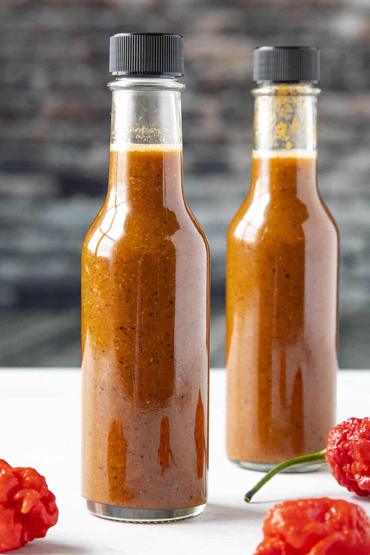 2 bottles of Carolina Reaper Hot Sauce