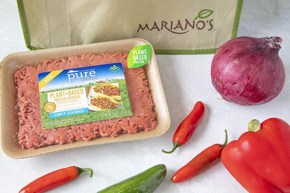 Ingredients to make my Chunky Vegetarian Chili Recipe