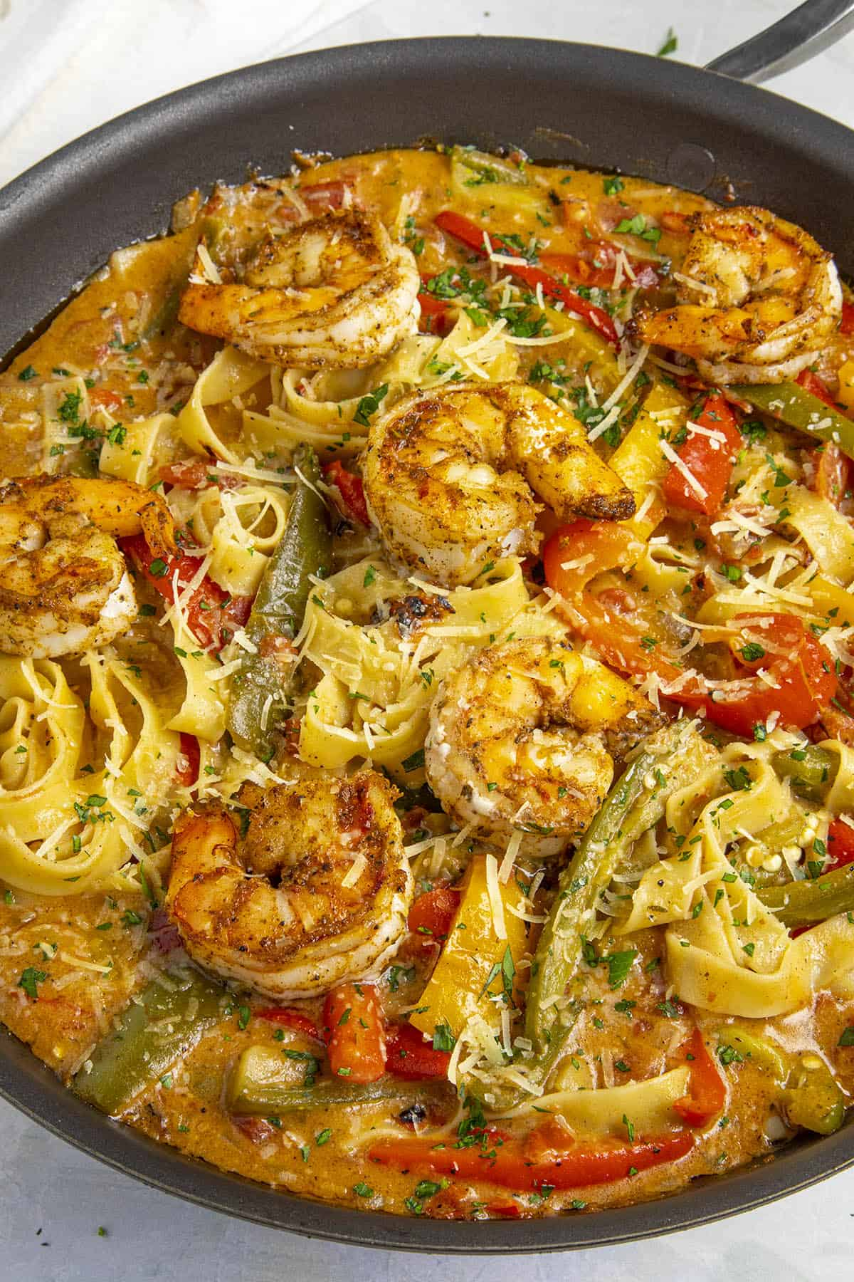 Rasta Pasta with Shrimp