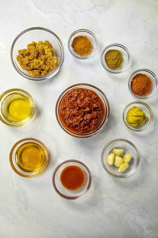 The chipotle-honey ham glaze ingredients
