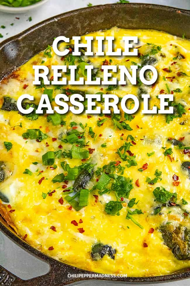 Chile Relleno Casserole - This chile relleno casserole recipe takes your favorite chiles rellenos ingredients and turns them into a one-pan dish, with roasted poblanos, eggs and cheese. It\'s perfect for brunch, lunch or dinner. #Casserole #OnePanMeal