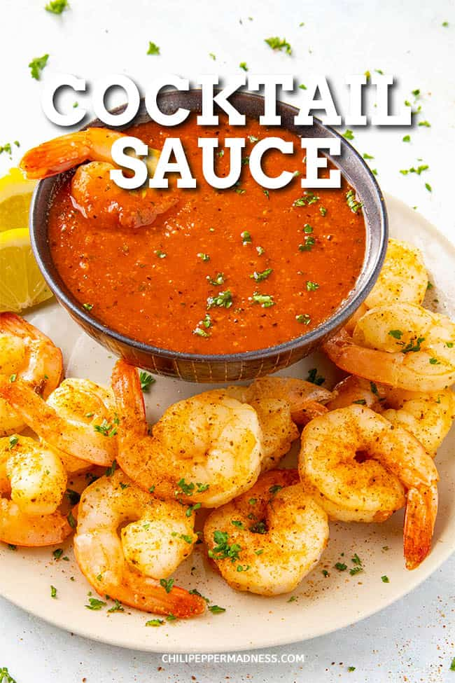 Cocktail Sauce Recipe - A spicy cocktail sauce recipe that goes perfectly with shrimp or prawns, with plenty of horseradish flavor. Learn how to make cocktail sauce at home. #Shrimp #Sauce