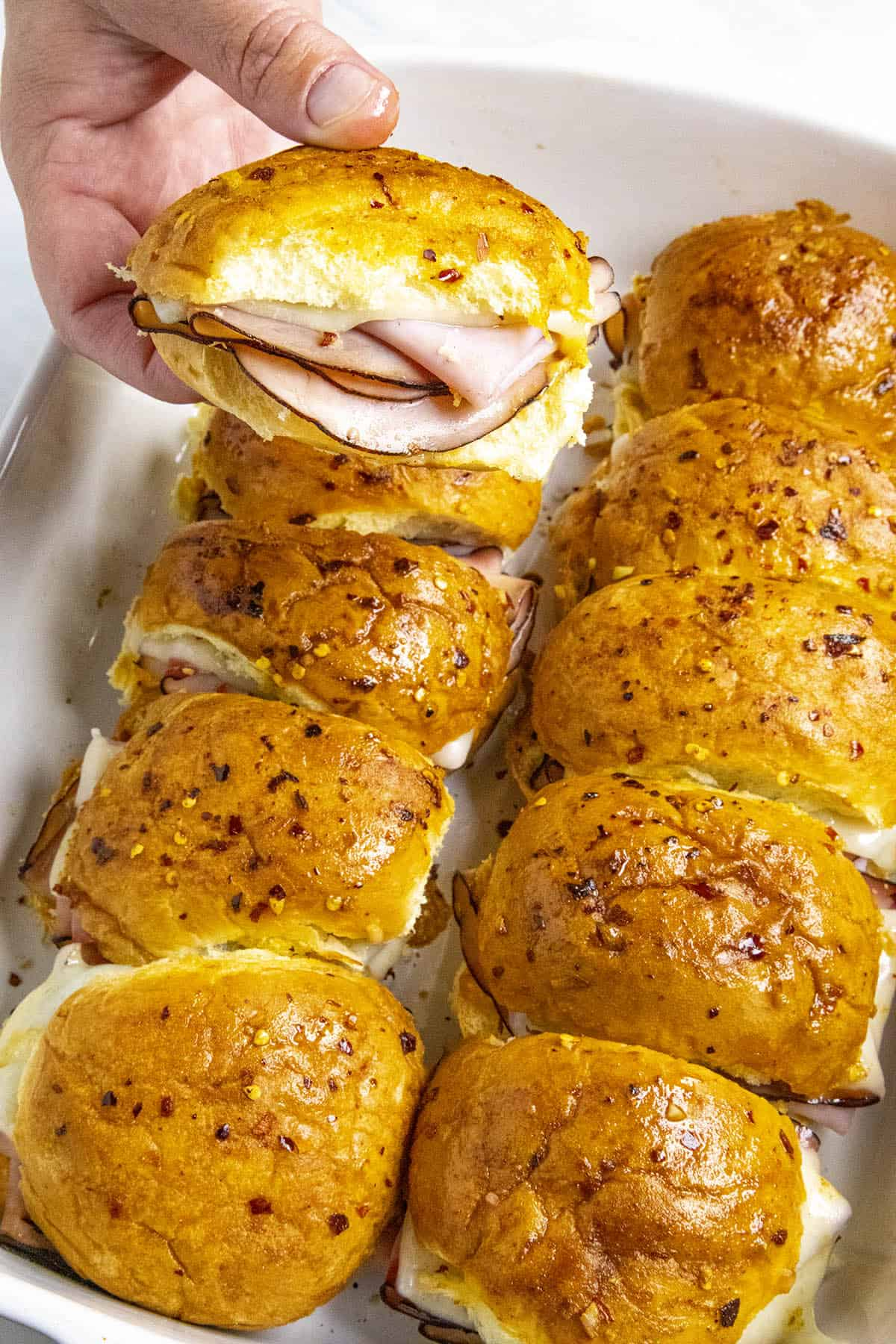 Spicy Crack Ham and Cheese Sliders