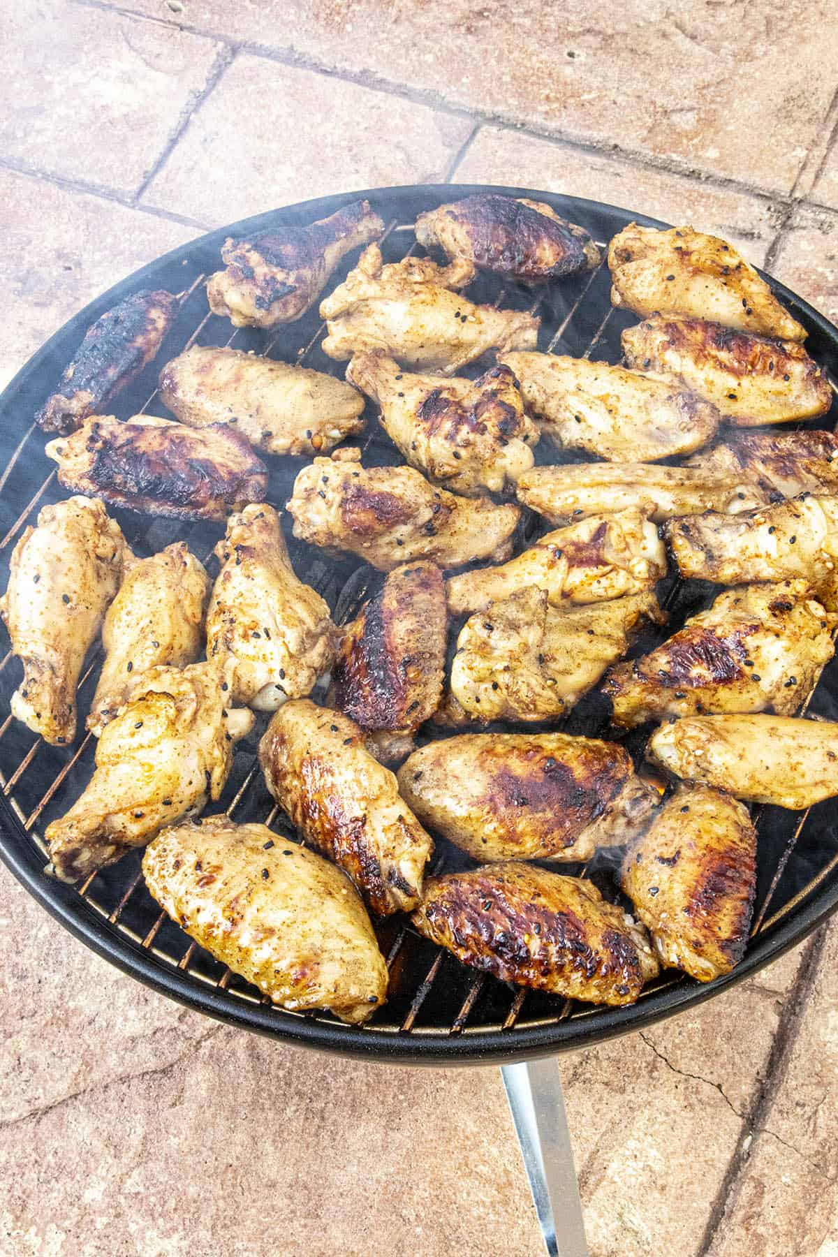 Grilled chicken on the grill, nice and smoky