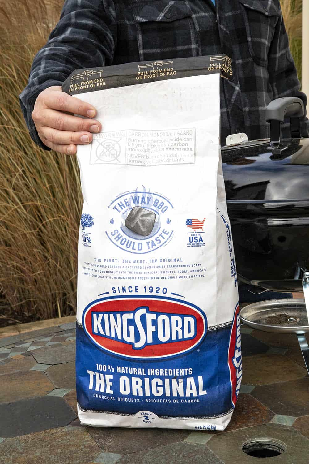 A bag of Kingsford Charcoal