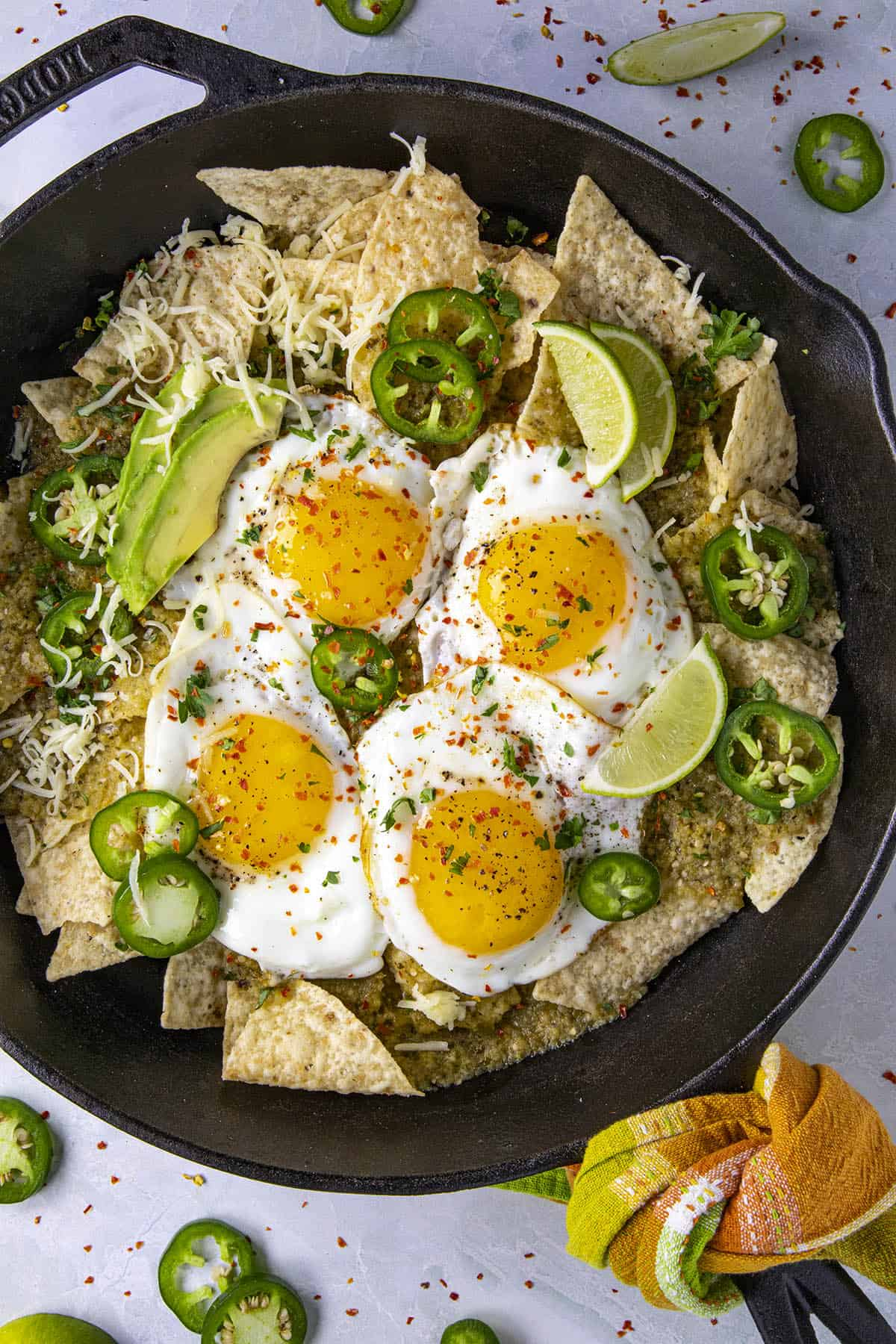 Chilaquiles Verdes ready to serve