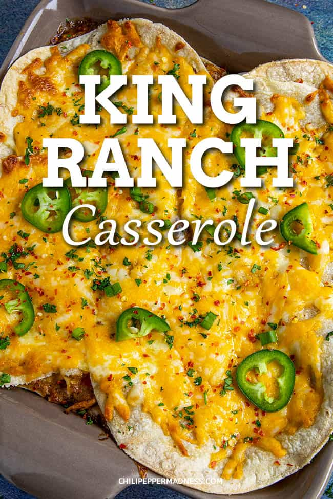 King Ranch Casserole - This king ranch casserole recipe is loaded with shredded chicken, cheese, tortillas, and a creamy filling - made with a roux instead of canned soups! #casserole #texmex #easydinner