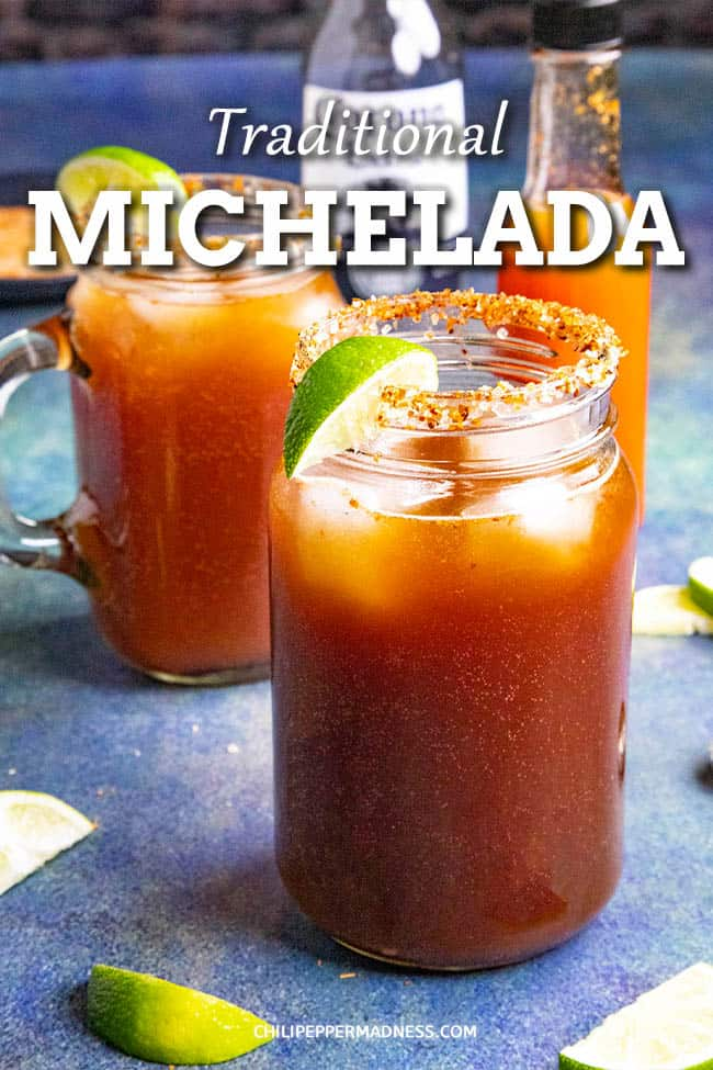 Michelada Recipe - Spicy Mexican Beer and Tomato Juice Cocktail - Try this refreshing Michelada recipe, a classic Mexican cocktail made with beer, Clamato juice, lime juice, Worcestershire sauce, soy sauce, hot sauce and more. I like mine spicy! #BeerCocktail #MexicanCocktail #Clamato #SpicyCocktail