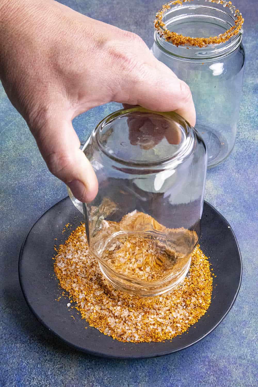 Salting the Michelada rim