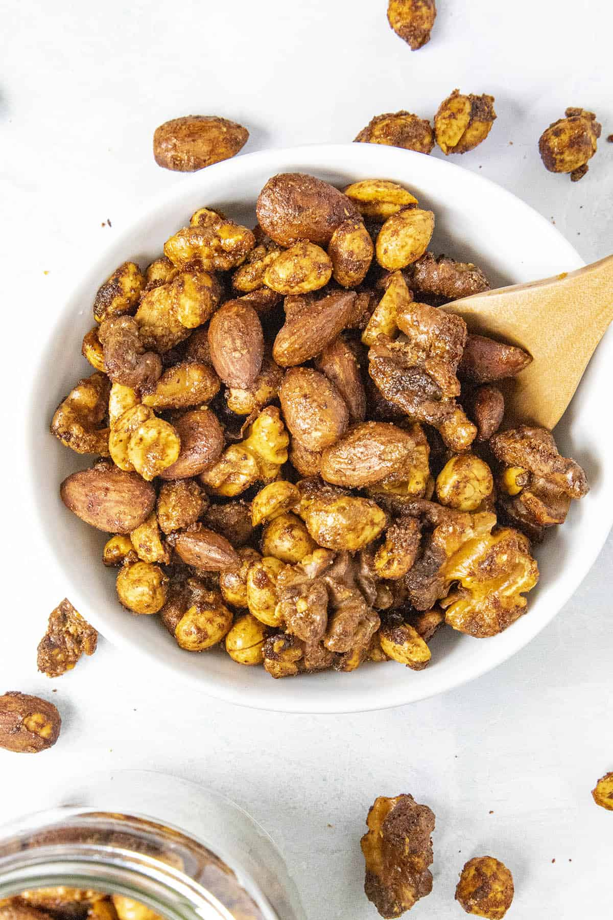 Spiced Nuts in a bowl