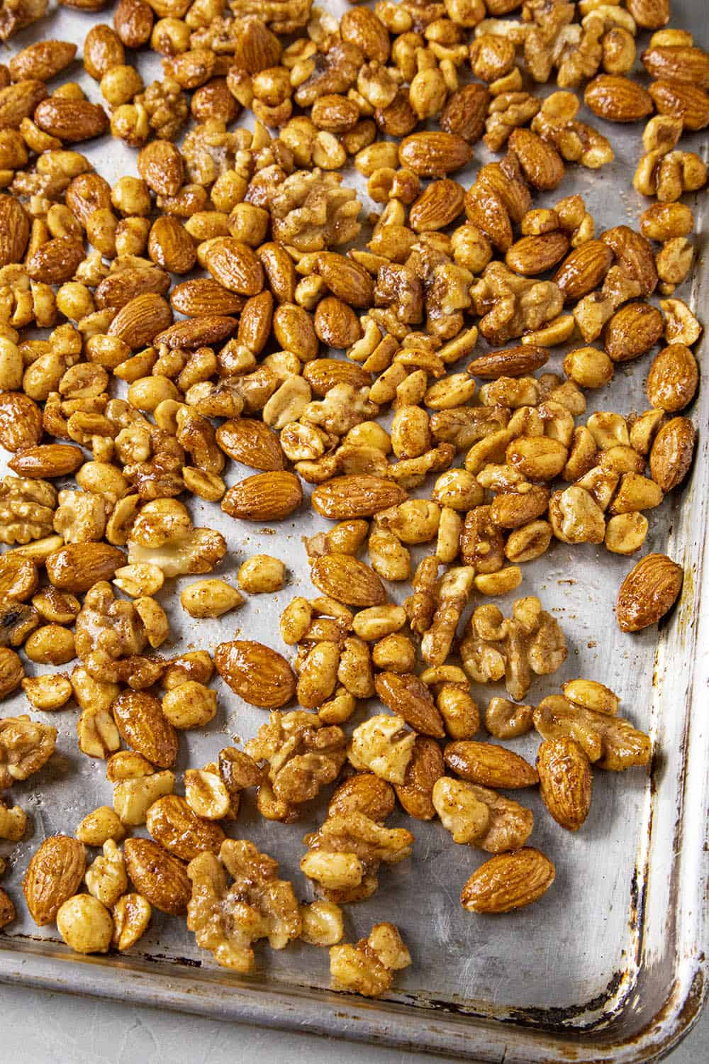 Spiced Nuts ready to go into the oven