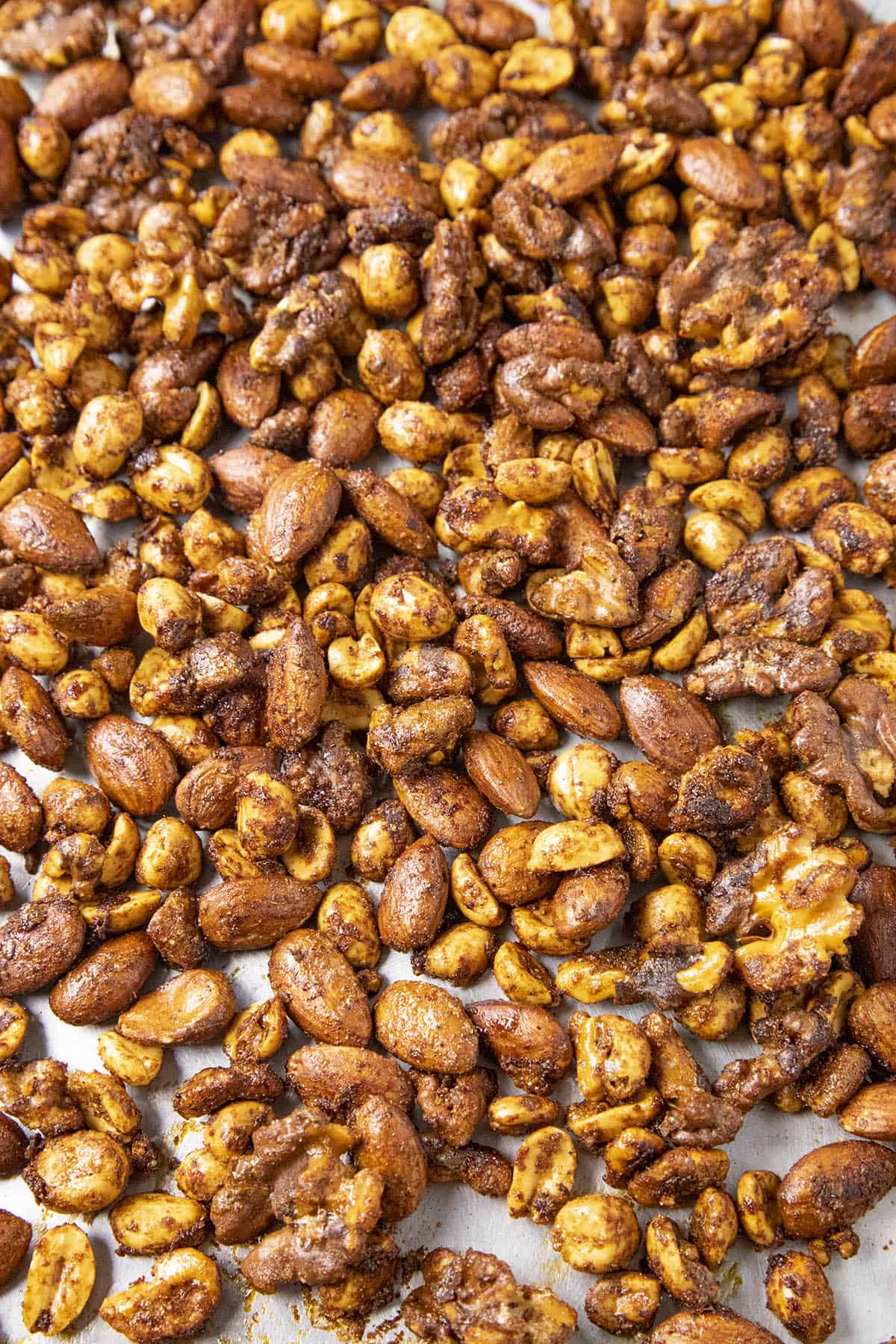Spiced Nuts just out of the oven