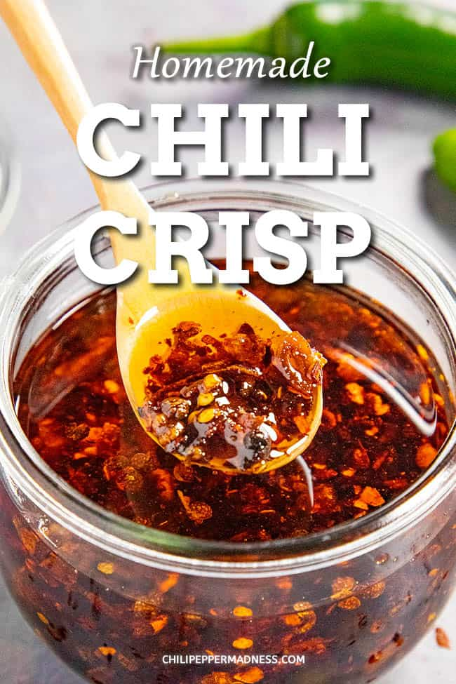 Chili Crisp Recipe - This spicy chili crisp recipe is easy to make, great for spooning over anything from vegetables to eggs, meats and more. Learn how to make chili crisp. #chilioil #chilipeppers