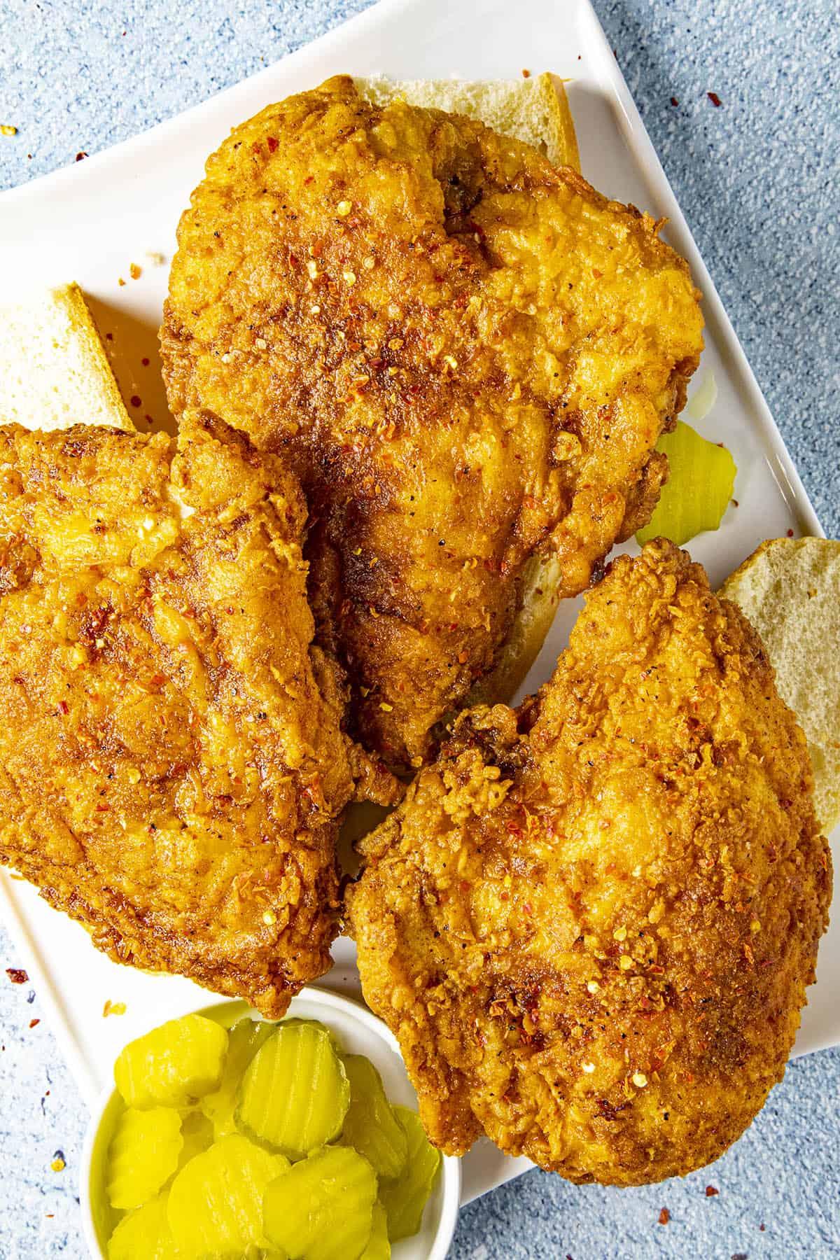 Nashville Hot Chicken, ready to serve