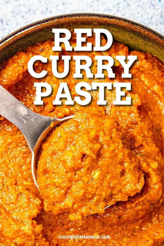 Red Curry Paste Recipe - This easy Thai red curry paste recipe is everything you need for homemade curry in a hurry. Ready in minutes. Also great for adding zing to soups, stews and more. #curry #thaifood