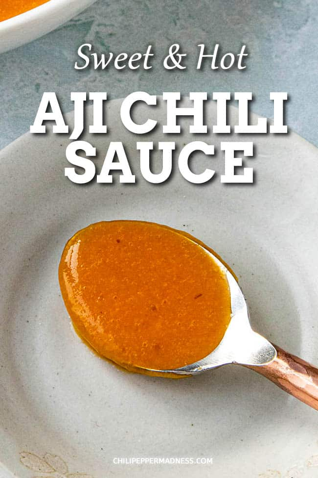 Easy Aji Chili Sauce - This aji chili sauce recipe is hot and sweet, made with a variety of fresh aji peppers from my garden, along with onion, cayenne peppers and more. Very easy to make. #chilisauce #peppersauce #hotsauce #ajipeppers