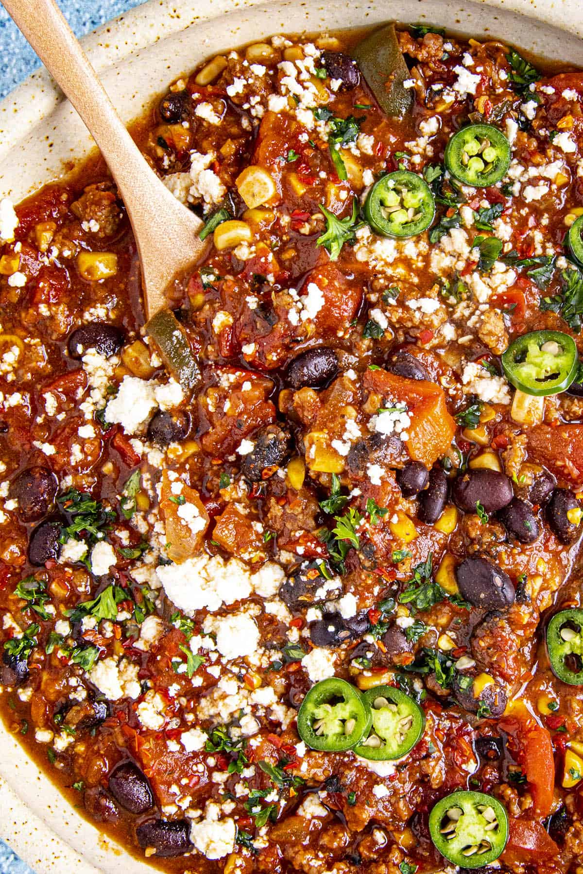 Chunky taco soup with loads of black beans