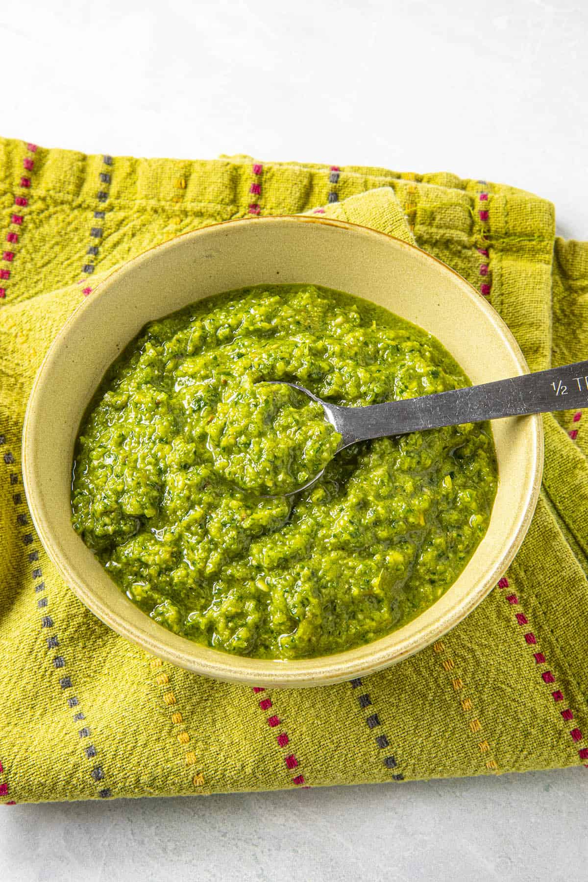 Green Curry Paste in a bowl