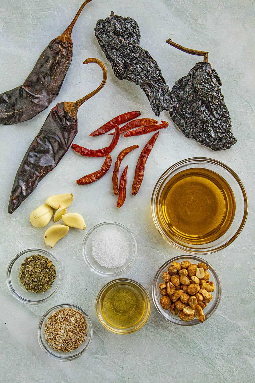 Salsa Macha ingredients