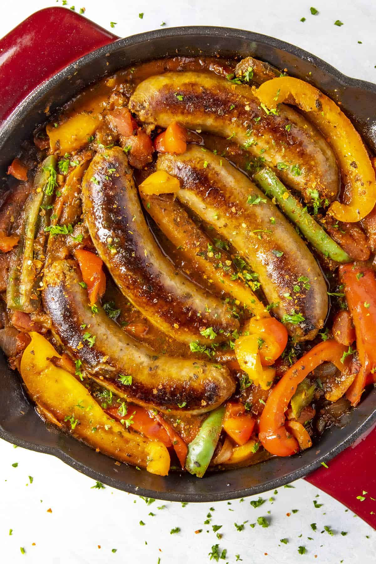 Sausage and Peppers ready to eat