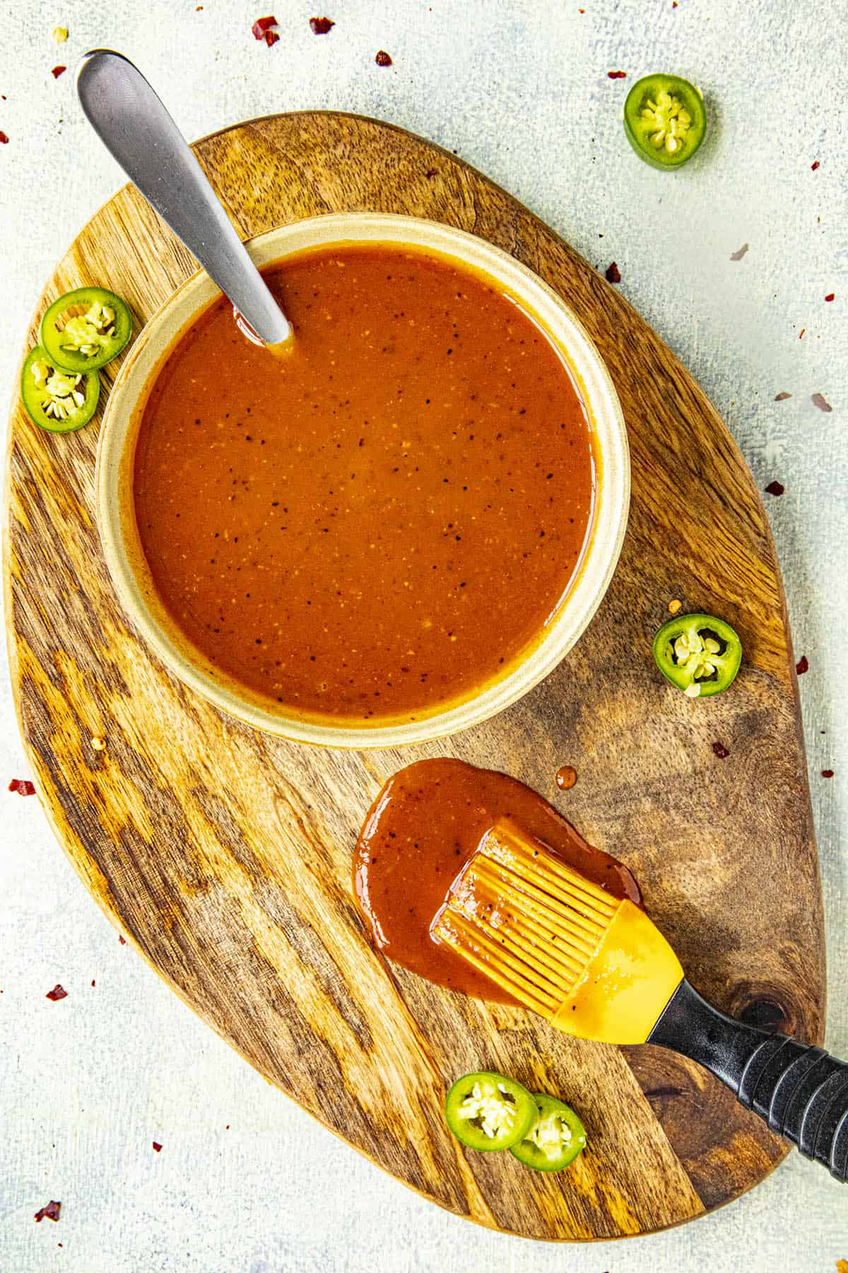 Sweet and Spicy BBQ Sauce in a bowl