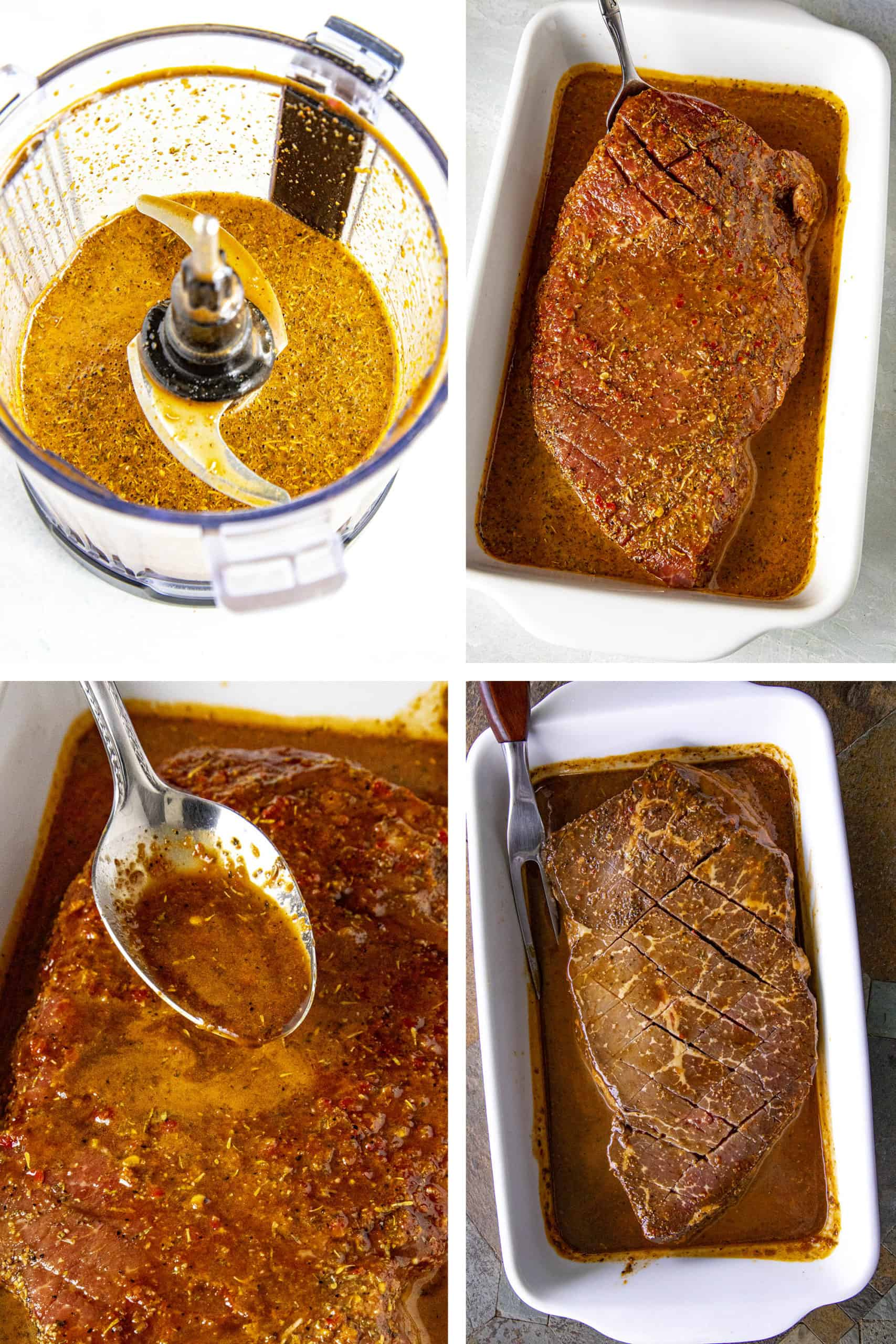 London Broil Marinade STEPS
