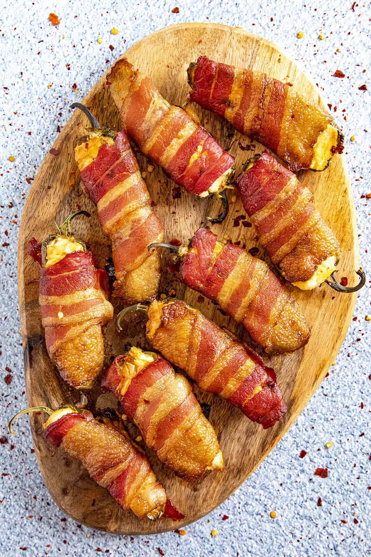 Smoked Jalapeno Poppers wrapped in bacon