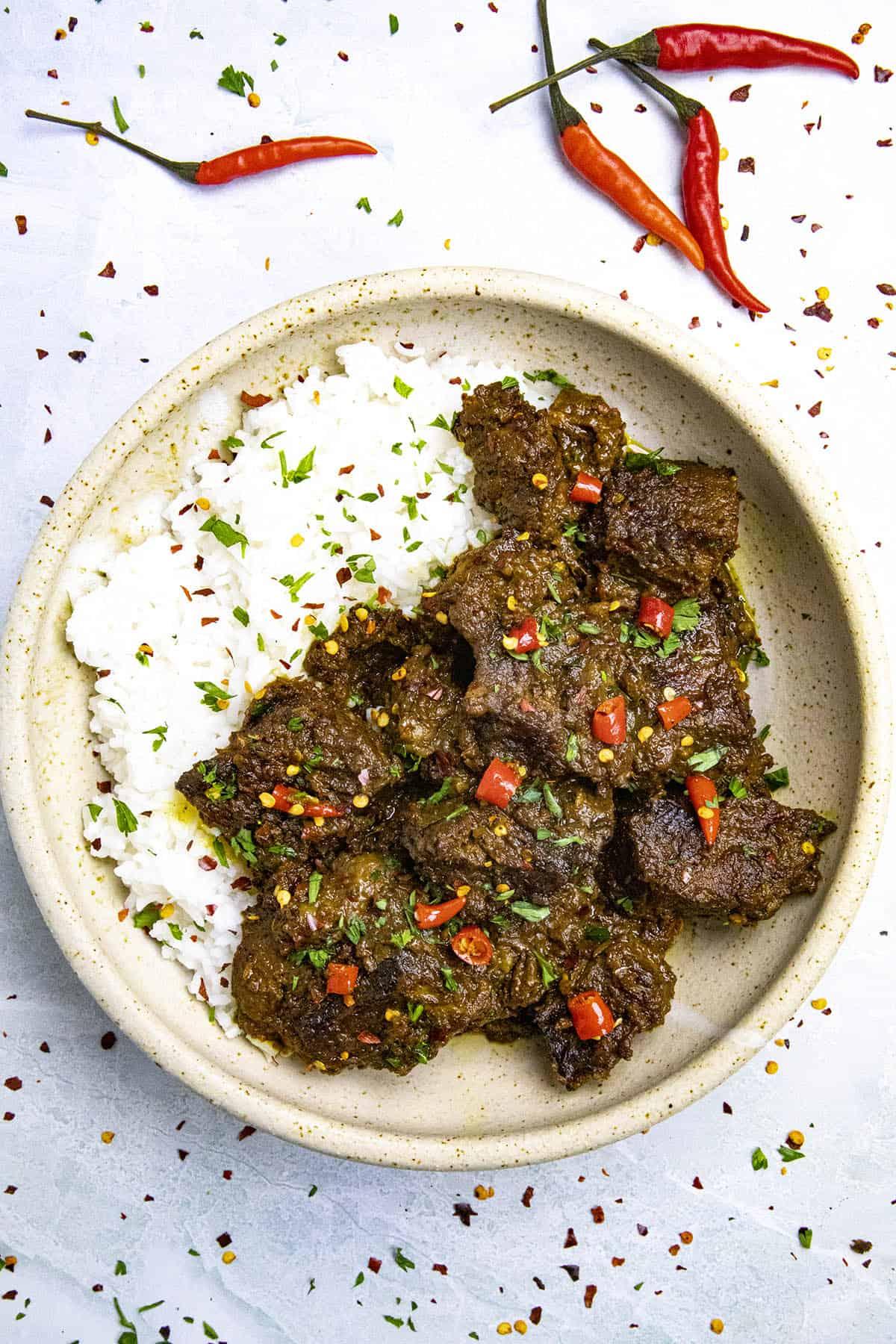 Beef Rendang in a bowl